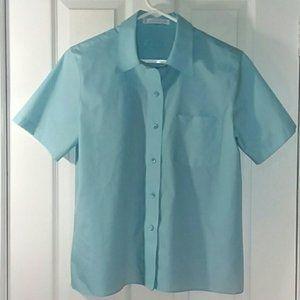 Foxcroft Non-iron short sleeve button up Size 10P